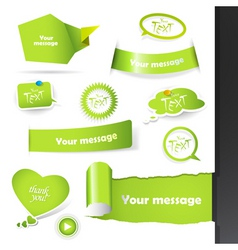 labels stickers vector image