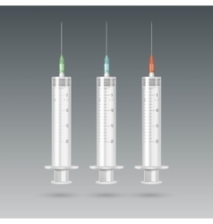 Plastic medical syringe isolated vector