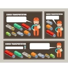 Automobile cargo transportation leaflet banner vector