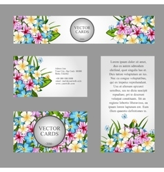 Cards with light texture of the buds of flowers vector