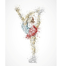 Abstract figure skater vector