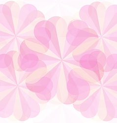 Abstract floower pink geometrical background 01 vector image vector image