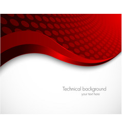 Abstract red wavy background vector image vector image