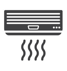 air conditioner solid icon electric and appliance vector image vector image