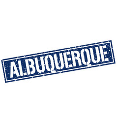 Albuquerque blue square stamp vector