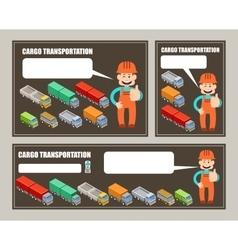 Automobile cargo transportation Leaflet banner vector image