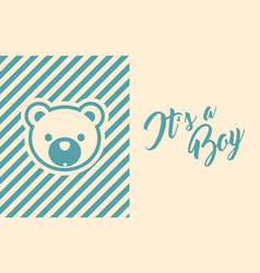 Baby boy shower invite greeting card vector
