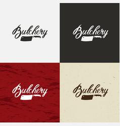 Butcher shop icon butcher shop logo vector