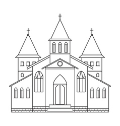 church building line art style vector image