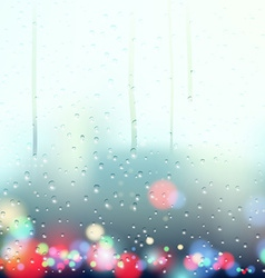 drops on the window vector image vector image