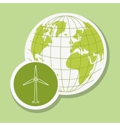 Eco wind mill design vector