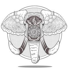 Elephant art vector