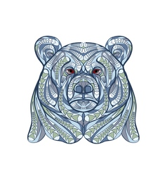ethnic bear vector image vector image