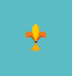 flat icon fleur de lis element vector image