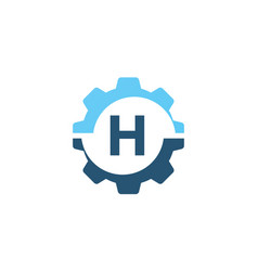 Gear solution logo initial h vector