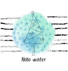 grunge Hellow winter concept vector image