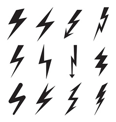 Lightning icons vector image vector image