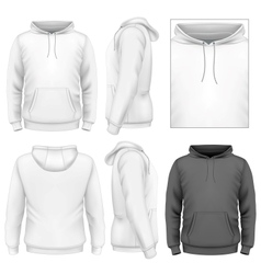 Mens hoodie design template vector image