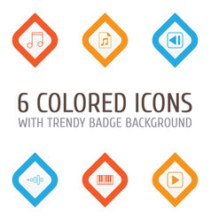 Multimedia icons set collection of frequency vector