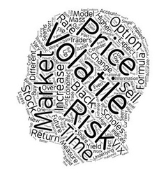 On volatility and risk text background wordcloud vector