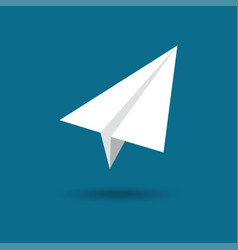 origami plane paper airplane symbol vector image vector image