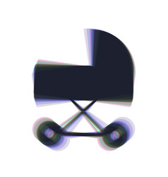 Pram sign colorful icon vector