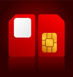 red sim cards vector image vector image