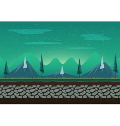 Seamless landscape for game background vector image vector image