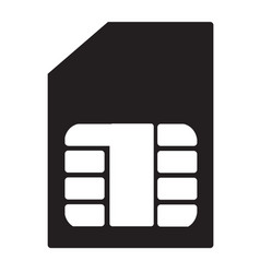 Sim card flat icon vector
