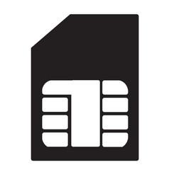 sim card flat icon vector image vector image