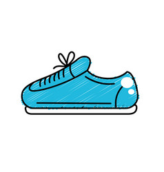 Sneaker to practice exercise and train vector