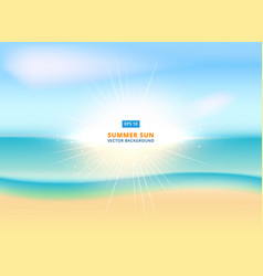 Sunny sparkling background with sandy beach and vector