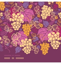 Sweet grape vines horizontal border seamless vector