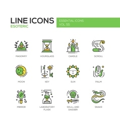 Esoteric - line design icons set vector