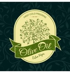 olive tree sticker logo design concept vector image