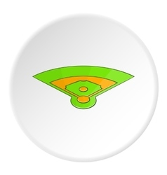 Baseball field icon cartoon style vector