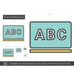 School chalkboard line icon vector