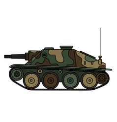 old tank destroyer vector image