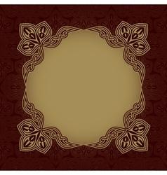 Dark red patterned background vector image