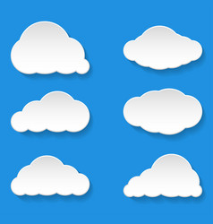 Messages clouds icon weather symbols vector