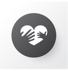 loving icon symbol premium quality isolated hands vector image