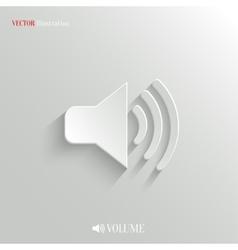 Speaker icon - white app button vector image
