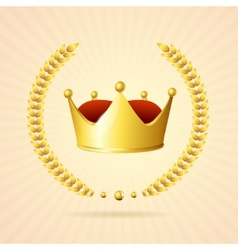 Golden royal crown vector