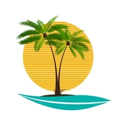 Palm leaf vector