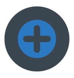 Create flat smooth blue colors round button vector
