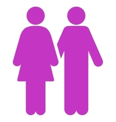 Human couple icon vector