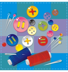 Sewing items vector