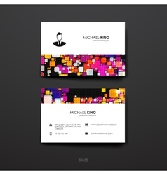 Set of design business card template in abstract vector