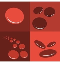 Group erythrocytes corpuscles icon vector