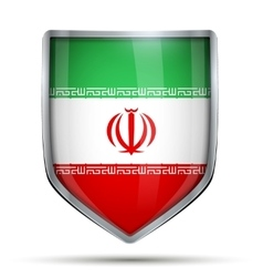 Shield with flag iran vector